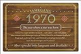 Schild Retro Vintage Geburtstag 50 50er funfzig Jahrgang 1970 Geschenk 300 x 200 mm