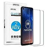 OMOTON [Lot de 2 Motorola One Vision Verre Trempé [Résistant] Protection Ecran en Verre Film de Protction [sans Bulle]