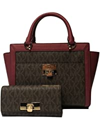 dcf3f2991e476f MICHAEL Michael Kors Tina Large TZ Satchel bundled with Michael Kors Callie  Caryall Wallet
