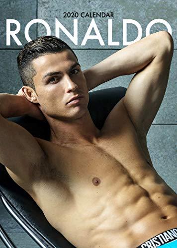 Iposters Set - 2 Artikel - Cristiano Ronaldo 2020 Wandkalender - Geschlossene Größe: 42 X 29.5 cm (16.5 x 11.5 Inches) und ein Blatt von 70 Mehrfarbig Selbstklebend Punkte Aufkleber