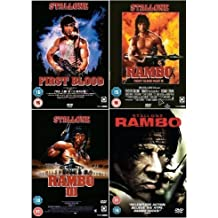 Rambo Complete DVD Collection: First Blood / Rambo 2 / Rambo 3 / Rambo 4 + Extras by Sylvester Stallone