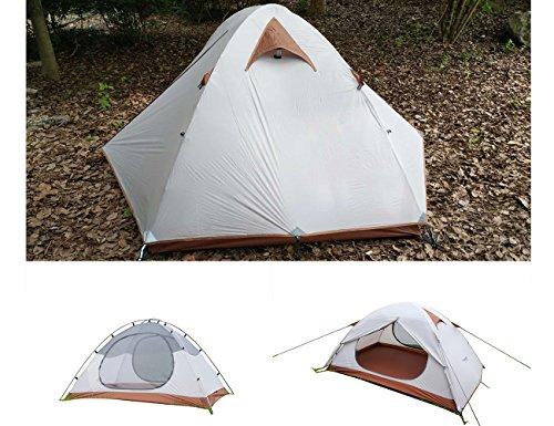 Luxe Tempo 1.9kg Ultraleicht trekkingzelt 2 personen Wasserdicht Kuppelzelt FREI Bodenplane Campingzelt 2 Vestibülen …