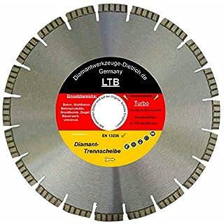 Diamant Trennscheibe LTB_Ø 700 mm, B= Ø 25,4 mm, Diamantscheibe Profi Qualität, Lasergeschweißte Turbosegment 10 mm, Stahlbeton + alle Betonprodukte, Granit, Ziegel, Universal,