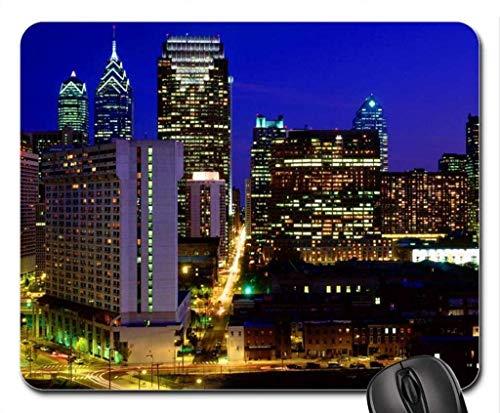 Drempad Gaming Mauspads Custom, Center City Skyline Philadelphia Pennsylvania Mouse Pad, Mousepad (Modern Mouse Pad)