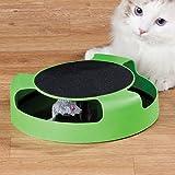 ITP 128643–Gatto gattino cattura il topolino Moving peluche interattivo di peluche che graffia artiglio tappetino