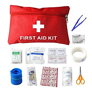 Pawaca Mini-Erste-Hilfe-Kit – 12 Stück Wasserdicht Kleine Erste-Hilfe-Set, für Büro, Fahrzeug, Camping, Arbeitsplatz & Outdoor (Rot)