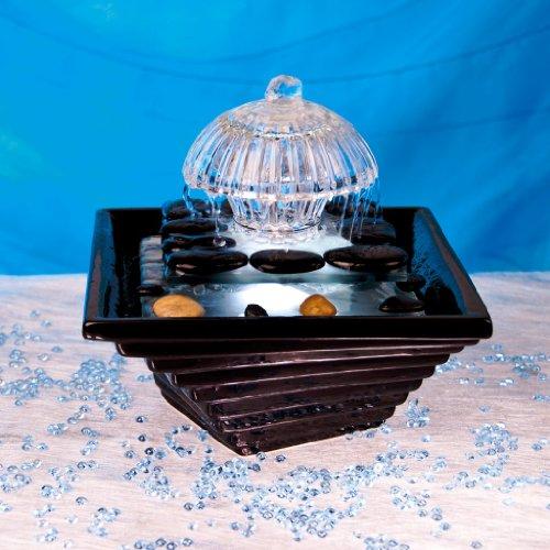 Berk Zen Brunnen Seon con blanco LED iluminación