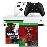 Xbox One S 1TB Konsolen-Bundle inkl. Halo Wars 2:Ultimate Edition + Mafia III + Xbox Wireless Controller (schwarz)