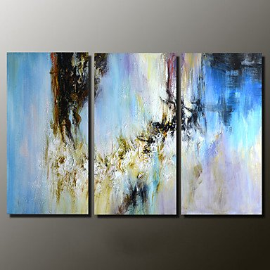"Preisvergleich Produktbild XHL Art Hand-Painted Abstract Abstract Landscape 100% Hang-Painted Oil Painting,Modern Three Panels Canvas Oil Painting For Home Decoration , 12"" x 36"""