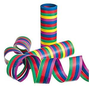 Susy tarjeta 11144680 - serpentinas, rayas, color clasificado, 3 rollos