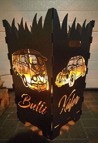 Designer Feuerkorb VW Bulli T1 und Käfer, Beetle xxl 40cm x 40cm x 70cm