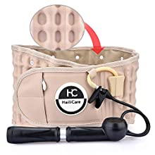 HailiCare Decompression Therapy Back Support Belt - Lower Back Brace Lumbar Belt Support for Pain Relief and Injury Prevention, Regular Size Fit for Men & Women (29-49 inches Waist)