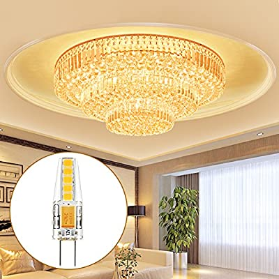 Kohree G4 LED Birne, 2W/2.5W 12V G4 Leuchte Ersatz für 20W/25W Halogenlampen, Warmweiß, 12V AC/DC 360° LED Leuchtmittel 10er Pack