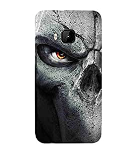 Cartoon, Black, Cartoon and Animation, Printed Designer Back Case Cover for HTC One M9 :: HTC One M9S :: HTC M9
