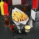 Retro French, Konus mit Sauce Dippers | Fast Food Korb, Chip Membran
