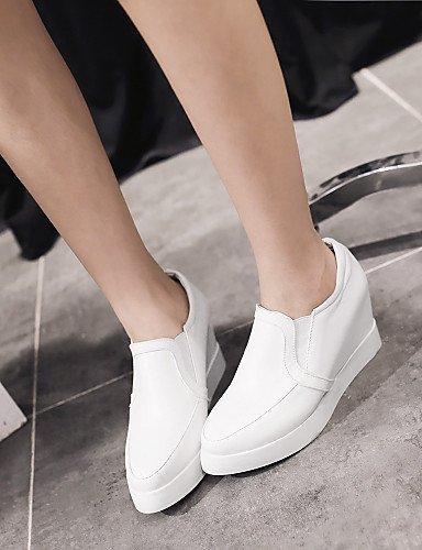ShangYi Scarpe Donna - Mocassini - Ufficio e lavoro / Casual - A punta / Chiusa - Basso - Finta pelle - Nero / Rosa / Bianco White