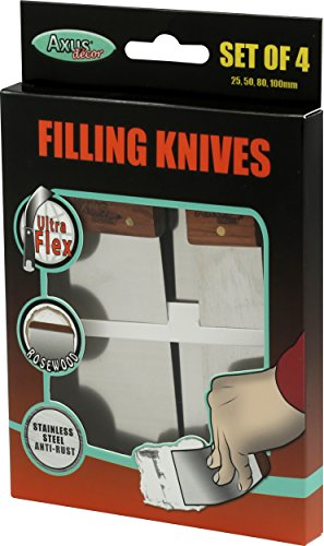 Axus Decor AXU/FKS4R Handle Stainless Steel Flexible Filling Knife Set - Rose Wood Test