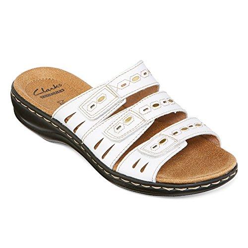Clarks Leisa Broach Robe Sandal white