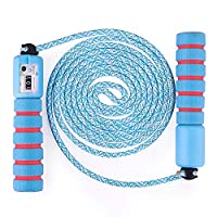 sinzau Children Jump Rope with Counter, 110 inch Adjustable Kids Skipping Rope with Anti Slip Handle for Boys Girls Fitness and Exercise