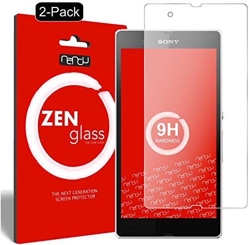 nandu I ZenGlass [2 Stück] Flexible Glas-Folie für Sony Xperia Z Panzerfolie I Display-Schutzfolie 9H
