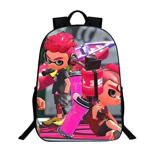 Splatoon Spiel Anime Druck Rucksack Rucksack Packsack Schultasche Schüler Schultasche Laptop Buch Tasche Lässig Dayback für Schüler Jungen und Mädchen