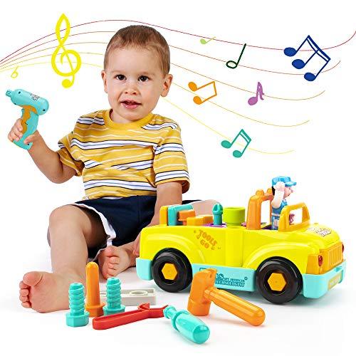 KOOWHEEL Baby Spielfahrzeuge Multifunktions Werkzeugwagen Elektrowerkzeug Baufahrzeuge Spielzeug Auto