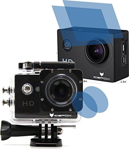 4ProTec I 4X Crystal Clear klar Schutzfolie für icefox Action Cam FHD Unterwasserkamera 12MP 1080P Premium Displayschutzfolie Bildschirmschutzfolie Schutzhülle Displayschutz Displayfolie Folie