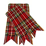 Scottish Kilt Sock Flashes various Tartans Kilt Hose Flashes pointed (Royal Steward Multi)