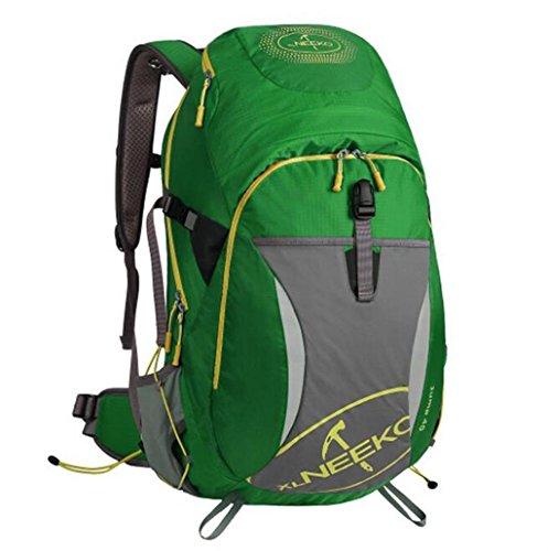 Spalle alpinismo uomini e donne esterni borse 40L viaggi trekking zaino ( Colore : Nero , dimensioni : 40L ) Verde