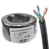 Außen CAT5e CCA Aussen Verwendung Ethernet Netzwerk Kabel Kabelrolle UTP 50 m