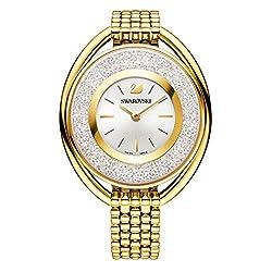 Swarovski Crystalline Oval Gold Tone Armband Watch