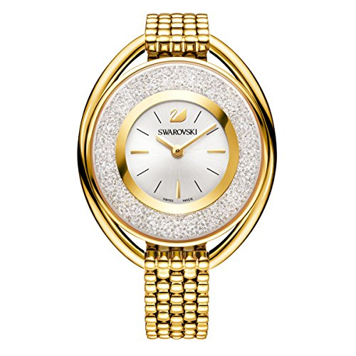 swarovski Crystalline Oval Gold Tone Braccialetto Watch