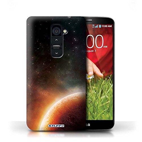 Kobalt® Imprimé Etui / Coque pour LG G2 / Nébuleuse Pourpre conception / Série Cosmos Planète Orange