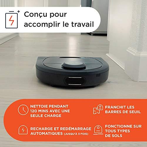 51skNWkkpsL [Bon Plan Neato] Neato Robotics D602 Connected - Compatible avec Alexa - Robot aspirateur avec station de charge, Wi-Fi & App