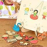 Modello di disegno per bambini in legno Set Disegno Stencil Combinazione di apprendimento Tavolo da disegno di frutta animale Puzzle Puzzle creativo Educazione per bambini Doodle Arts And Crafts