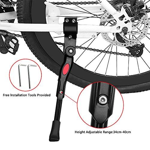 Fahrradständer, Höhenverstellbarer Universal-Anti-Rutsch-Gummi-Fuß Einfache Installation Wasserdicht Langlebig Faltbar für Mountainbike, Rennrad und Fahrräder