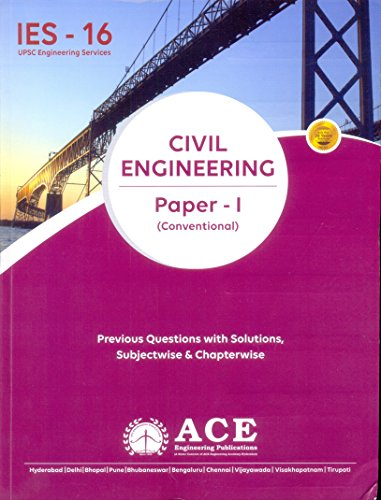 Ies Civil Engineering Paper - I (Conven.) 2016  available at amazon for Rs.318