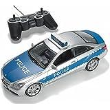 Voiture de police RC Prextex avec Lumières et Sons de sirène de police réaliste jouets de voiture de police télécommandé pour garçons