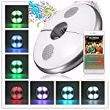 KINGSO Patio Umbrella Light Bluetooth Speaker, KINGSO USB Rechargeable Wireless 48 LEDs Lights(Pure White Light & RGB Color Changing), Portable LED Bluetooth Speaker for Patio Umbrellas, Outdoor Use