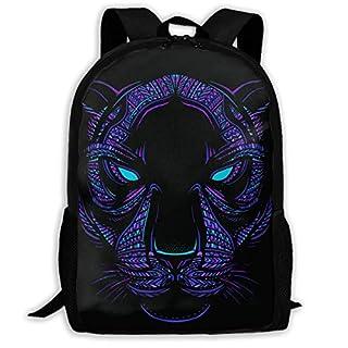 Aztec Neon Panther Backpack Laptop Bags Shoulder Bag College ypack Backpacks for Unisex