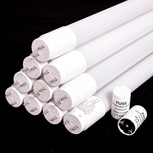 10 x TLY-DG-A-24 LED Röhre A++ weiß 150cm 24 W  120 lm/W G13 320° einseitige Einspeisung Starter