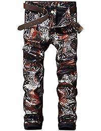 Denim da Uomo in Cotone Cowboy Fori Ragazzo Cher Trend Ssig Stampa alla  Moda Discoteca Pantaloni 35e85bf7e526
