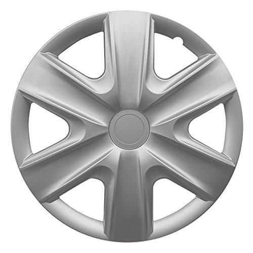 15 Zoll Radzierblenden HEXAN SILVER (Silber). Radkappen passend für fast alle OPEL wie z.B. Corsa D