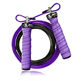 5BILLION Springseil Speed Rope - Verbiegen - Einstellbar - Workout für Double Unders, Fitness, WOD, Draussen, MMA & Boxen Ausbildung (Blau)
