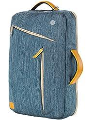 SunSmart Multi-funcional a prueba de agua de 15 pulgadas portátil de la mochila del morral Packsack con Conveniente cable del auricular del agujero de 15 pulgadas portátil / ordenador portátil Transformado en Mochila Bolso y taleguilla de 15.4 pulgadas portátil / Macbook Pro 15.4 '' / Macbook Air de 15.4 '' (azul)