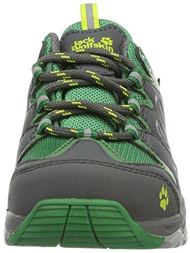 Jack Wolfskin Mtn Attack 2 Texapore Low K, Chaussures de Randonnée Basses Mixte Enfant Vert (Leaf Green)