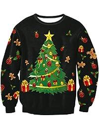 Sudaderas Navideñas Unisex Sudadera Navidad Estampadas Jersey Hombre Mujer Sueter Navideño Reno Sweaters Pullover Cuello Redondo Largas Chica Oversize Anchas Deportivas Invierno Personalizadas Basicas