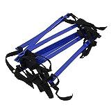 TOOGOO(R) 10 pies Escalera de velocidad de agilidad Escalera de entrenamiento de futbol Escalera de velocidad de 7 peldanos planos rapido- Azul