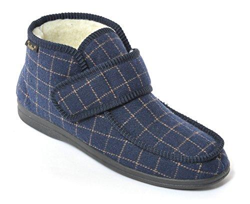 Le Dr Keller Hommes Touch Boot Pantoufle De Fixation Bleu