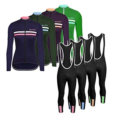 Uglyfrog 2017 Damen Langärmelig Fahrradtrikot Bike Jersey + Lange Hosen atmungsaktiv Reiten Jacke Hose für Outdoor Radfahren CXHB05